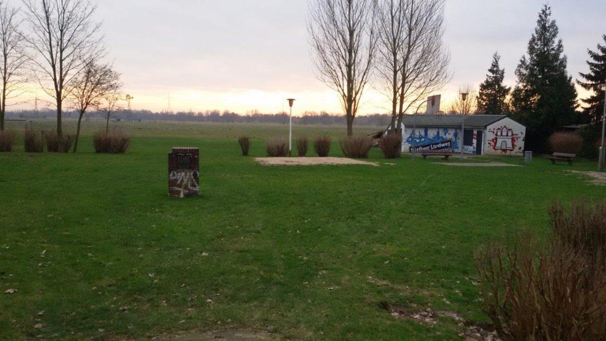 Blick auf die alte Fläche des Spielplatzes